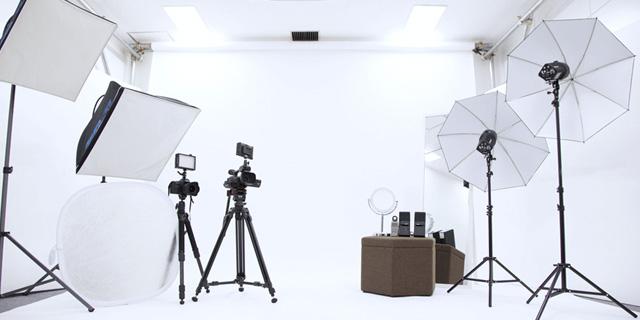 撮影スタジオ風景
